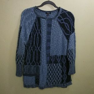 Chaps Fancy Knit Blue Pullover Sweater NWT